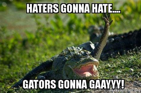 Gator Meme - gator meme 28 images haters gonna hate gators gonna