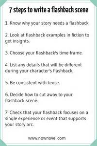 how to write a flashback 7 key steps now novel