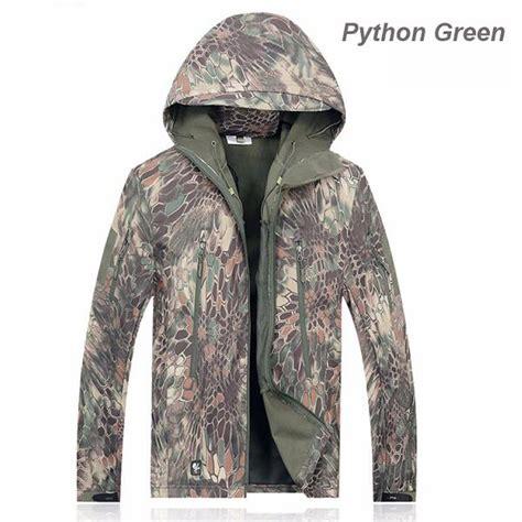Jaket Tad Camouflage Phyton 2018 camouflage tactical shark skin jacket waterproof