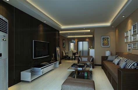 Dark Brown Living Room | dark brown tv wall living room