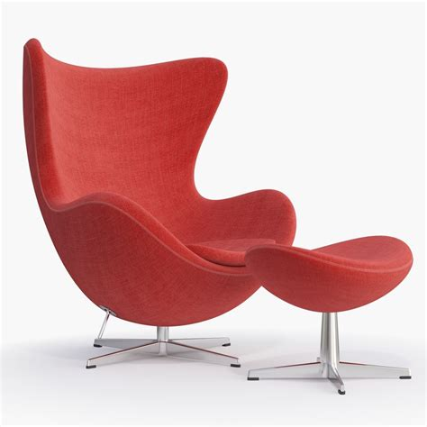 Fritz Hansen Egg Chair by 3d Fritz Hansen Egg Chair