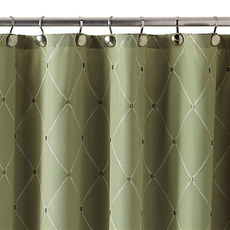 72 by 84 shower curtain buy wellington 72 inch x 84 inch shower curtain in green