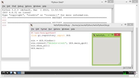 tutorial python gtk hello raspberry pi 2013