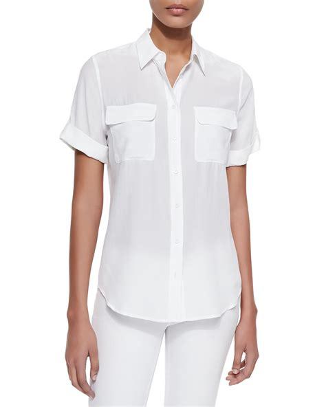 Sleeves Blouse White white satin sleeve blouse chevron blouse