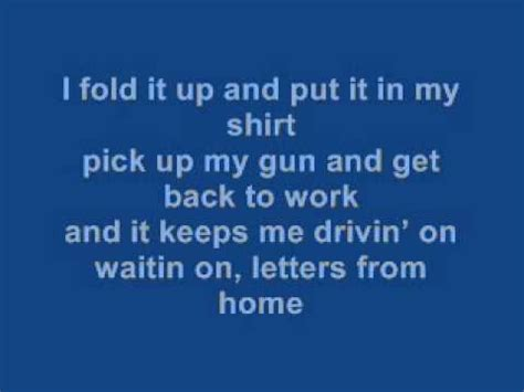 letters from home lyrics micheal montgomery