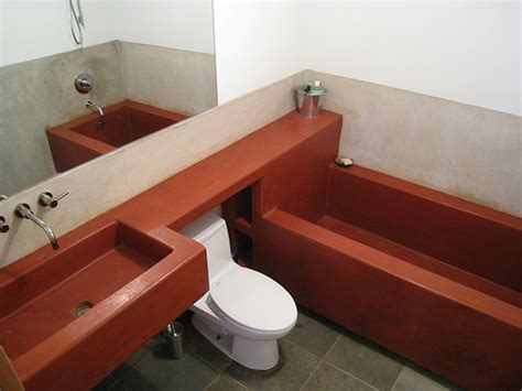 poured concrete bathtub concrete sink and tub in bathroom 2 flickr photo sharing