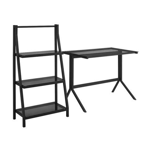 Walker Edison 3 Desk by Walker Edison 48 Quot Desk And 3 Shelf Bookcase Set In Smoke