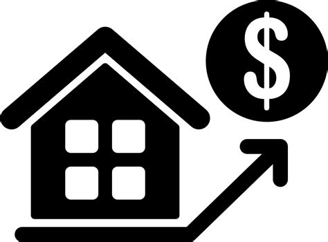 house prices rising svg png icon