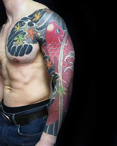koi tattoo without water 50 japanese chest tattoos for men masculine design ideas