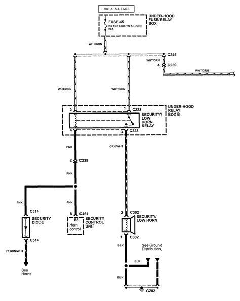 nsx horn wiring wiring diagram