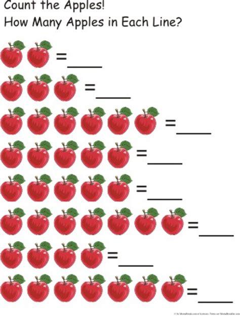 Apple Counting Worksheet by Doodlebug S Homeschool