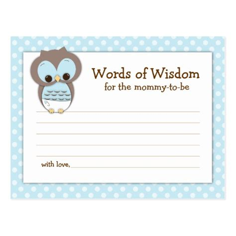free baby advice cards template entertaining pinterest baby shower mom advice card pink sleepy owl postcard