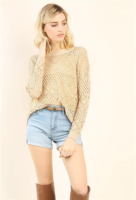 fishnet sweater shop sweaters cardigans at papaya clothing