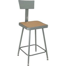 Shop Stools With Backs by Stools Steel Wood Steel Shop Stool W Back Rest
