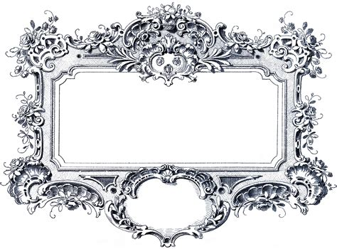 baroque designs gorgeous baroque frame images the graphics fairy