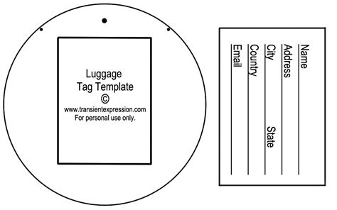 Luggage Tag Template Luggage Tags All Form Templates Luggage Tag Template Word