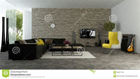 textured accent wall large modern living room with textured accent wall stock