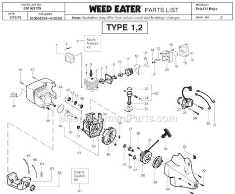 weed eater twist n edge manual weed eater twist n edge parts list and diagram type 3