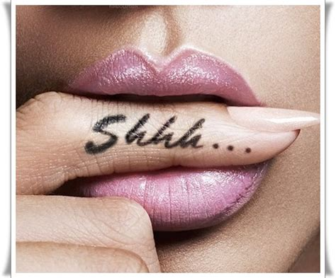 shhh tattoo 65 beautiful finger tattoos
