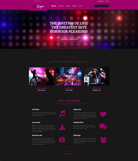 the best music wordpress themes for 2016 web template