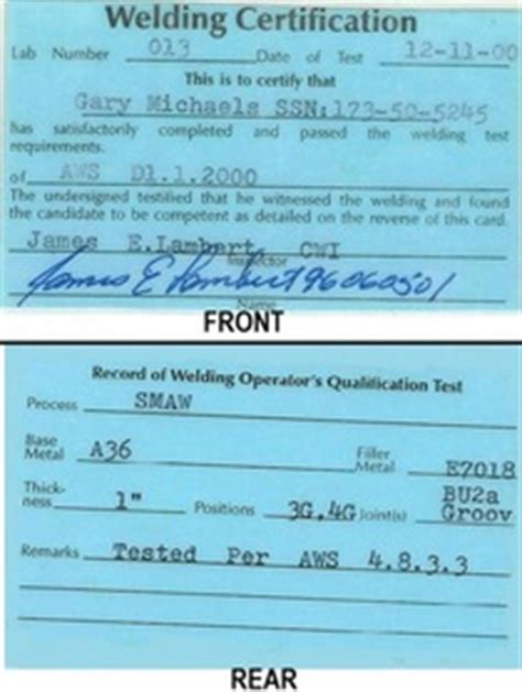 welding certification letter gary michels maintenance turnaround cwi florida power