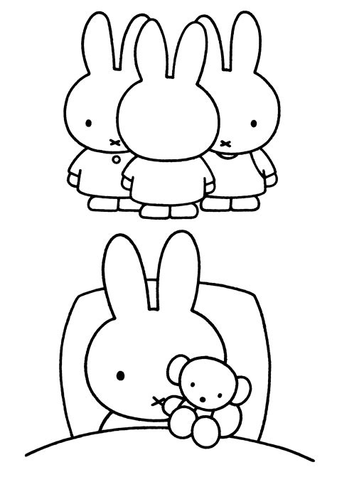 Miffy Coloring Pages Coloringpages1001 Com Miffy Coloring Pages