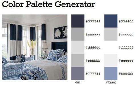 Bedroom Color Palette Generator Beautifully Coastal Bedroom In Navy Blue And White 2