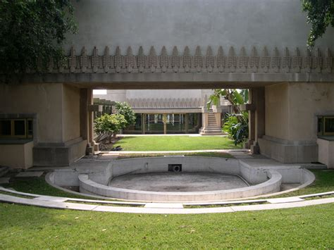 hollyhock house file hollyhock house pool jpg wikipedia