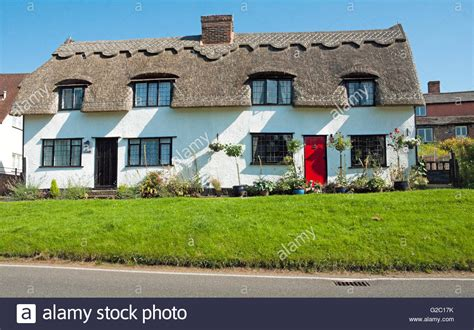 Cottage Essex by Finchingfield Thatched Cottage Essex Stock