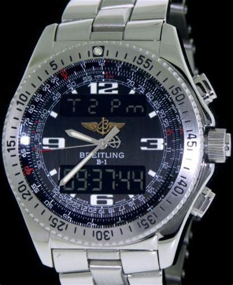 Swiss Time Analog Digital breitling b1 analogue digital a6836223 b509 pre owned