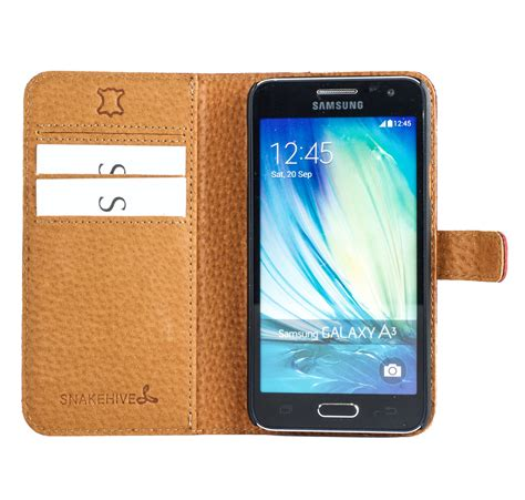 Mofi Leather Samsung Galaxy A3 snakehive 174 vintage nubuck leather wallet cover for