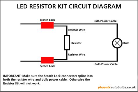 how to wire resistors led resistor kit autobulbs