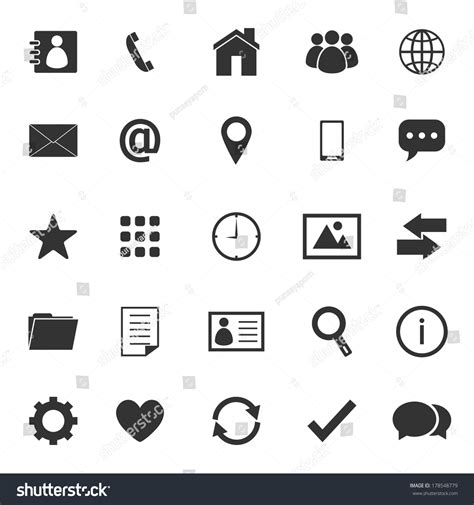 layout vector icons contact icons on white background stock stock vector