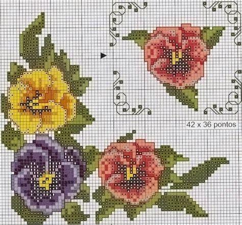 imagenes flores en punto de cruz patrones flores en punto de cruz punto cruz pinterest