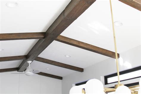 faux wood ceiling beams diy diy faux wood beams withheart