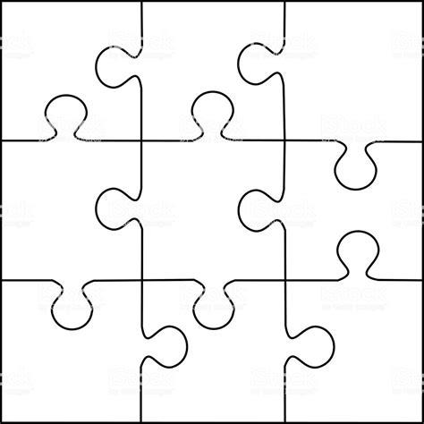 Puzzle Vector De Plantilla De 9 Piezas Arte Vectorial De Stock Y M 225 S Im 225 Genes De Abstracto 6 Jigsaw Puzzle Template