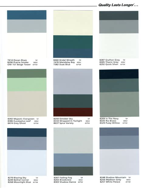 exterior coordinates color chart color center vogel architectural coatings for