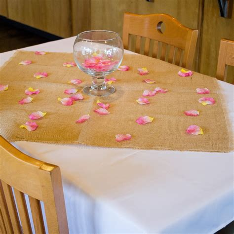 burlap table overlays 30 inch square burlap table overlays 6 pack burlap table