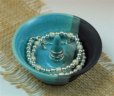 ceramic for jewelry pottery jewelry holder blue ceramic jewelry dish by