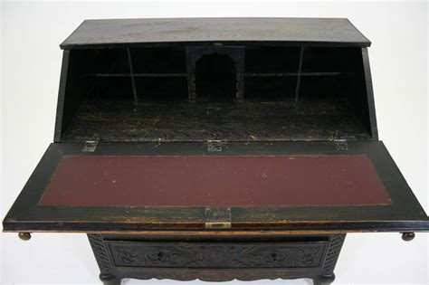 antique slant top desk for sale antique scottish victorian heavily carved oak drop slant