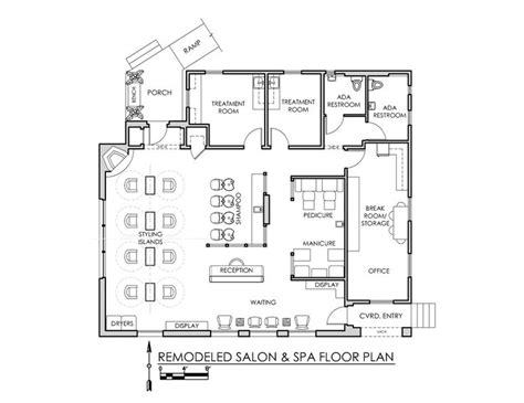 spa layout plan drawing 1200 sq ft salon floor plan google search my salon