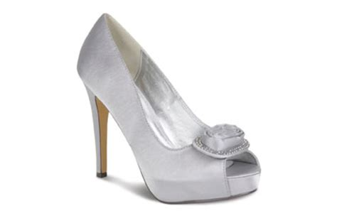 Silver Satin Wedding Shoes by Lunar Flr115 Silver Grey Satin Occasion Or Wedding Shoes