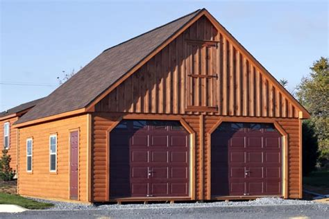 garage york amish built log cabin garages hudson valley new york state