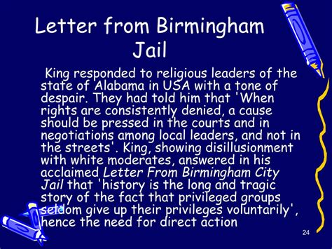 Letter From Birmingham Tone