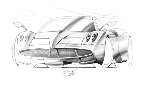 pagani drawing pagani s huayra sketches