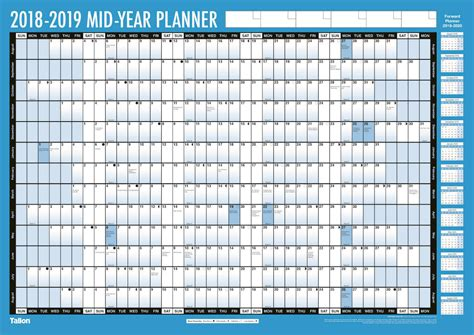 printable wall planner academic year a2 2018 2019 academic year wall planner laminated