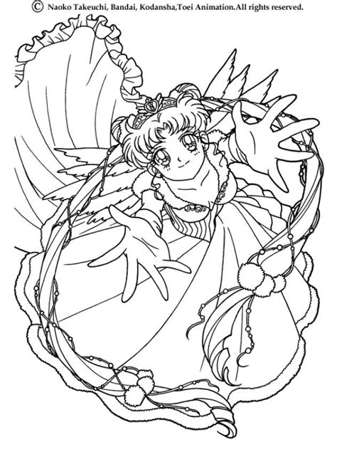 Sailor Moon Dressed Coloring Pages Hellokids Com Sailor Moon Princess Coloring Pages Printable