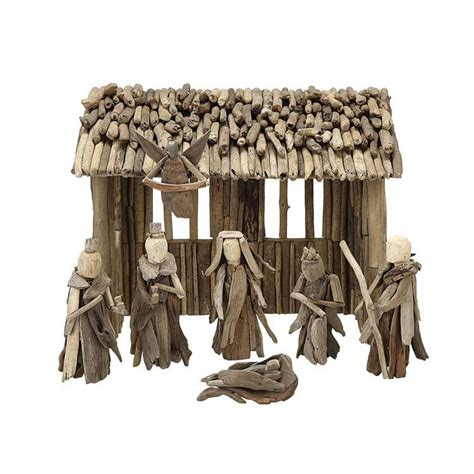 Luxury Home Office Design - large natural wooden christmas manger nova68 com