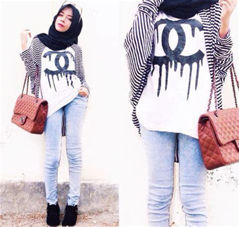 Rok Mini Skirt Motif Stipes Stripe Hitam Putih Import fashion fashion ala selebgram
