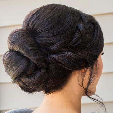 Simple Bridesmaid Hairstyles For Hair by 35 Gorgeous Updos For Bridesmaids Stayglam